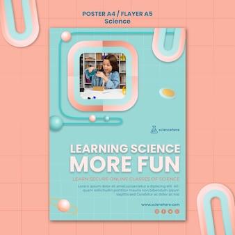 Modèle d'affiche de classe de sciences