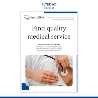 Modèle d'affiche clinique avec photo