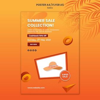 Modèle d'affiche de collection de soldes d'été
