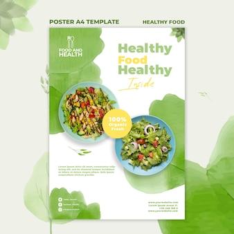 Modèle d'affiche de concept d'aliments sains