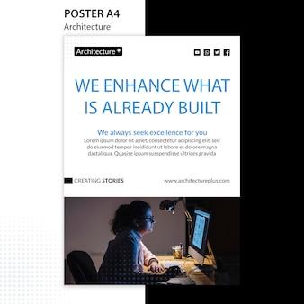 Modèle d'affiche de concept d'architecture