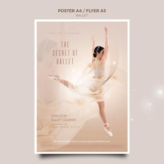 Modèle d'affiche de concept de ballerine