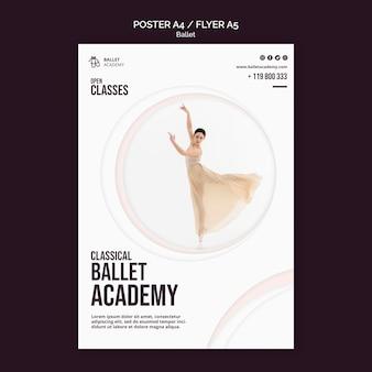 Modèle d'affiche de concept de ballet