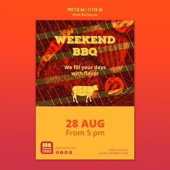 Modèle d'affiche de concept de barbecue