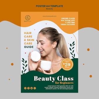 Modèle d'affiche de concept de beauté a4