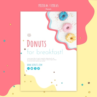 Modèle d'affiche de concept de beignet