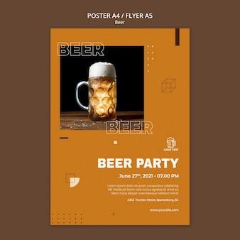 Modèle d'affiche de concept de bière