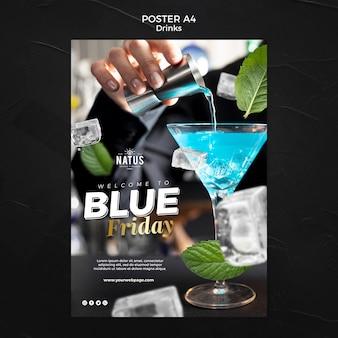 Modèle d'affiche de concept de boissons