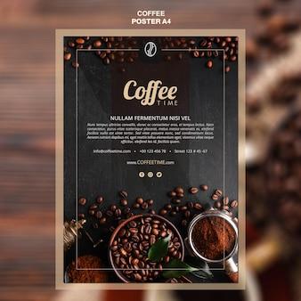 Modèle d'affiche de concept de café