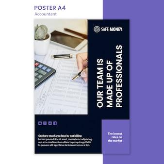 Modèle d'affiche de concept comptable