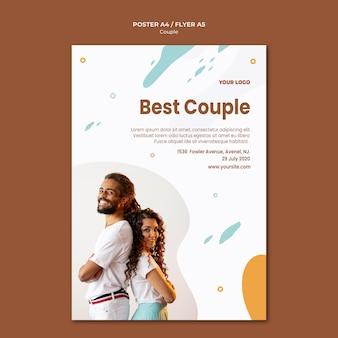 Modèle d'affiche de concept de couple