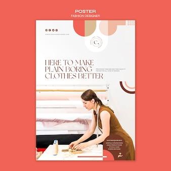 Modèle d'affiche de concept de créateur de mode