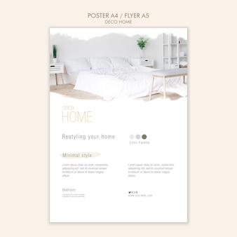 Modèle d'affiche concept déco maison