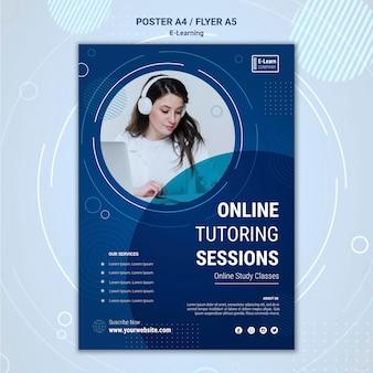 Modèle d'affiche de concept e-learning