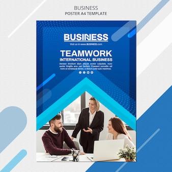 Modèle d'affiche de concept d'entreprise