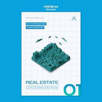Modèle d'affiche de concept immobilier