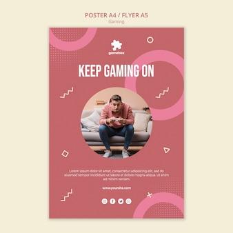 Modèle d'affiche de concept de jeu