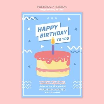 Modèle d'affiche concept joyeux anniversaire