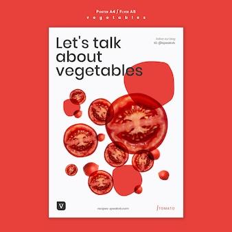 Modèle d'affiche de concept de légumes