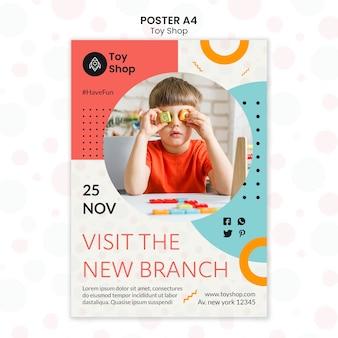Modèle d'affiche de concept de magasin de jouets