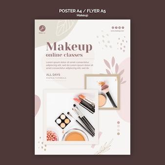 Modèle d'affiche de concept de maquillage
