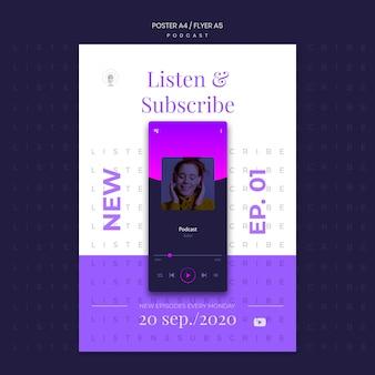 Modèle d'affiche de concept de podcast