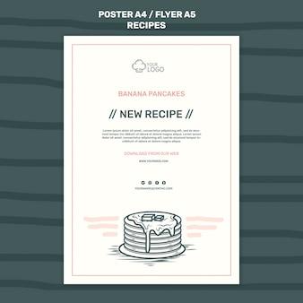Modèle d'affiche de concept de recettes