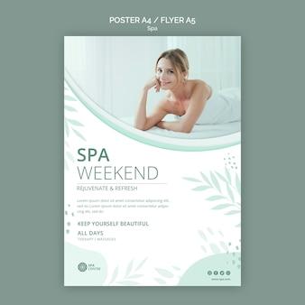 Modèle d'affiche de concept de spa