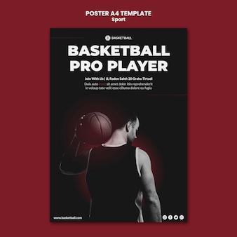 Modèle d'affiche de concept de sport