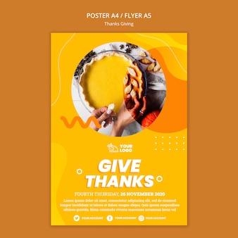 Modèle d'affiche de concept de thanksgiving