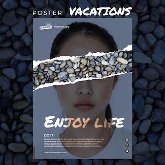 Modèle d'affiche de concept de vacances