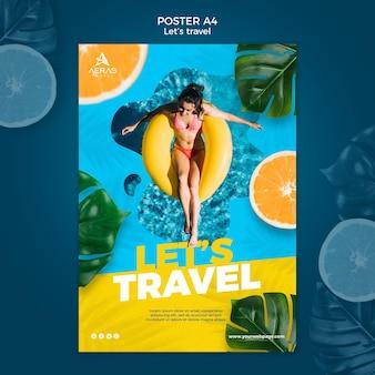 Modèle d'affiche de concept de voyage