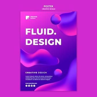 Modèle d'affiche de conception fluide