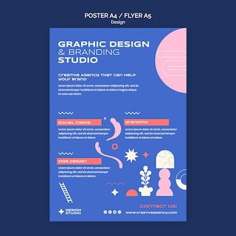 Modèle d'affiche de conception graphique