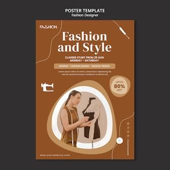 Modèle d'affiche de conception de mode