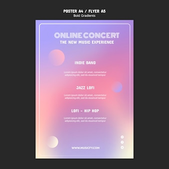 Modèle d'affiche de concert en ligne