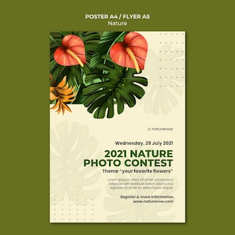 Modèle d'affiche de concours photo nature