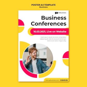 Modèle d'affiche de conférence commerciale