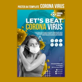 Modèle d'affiche de coronavirus