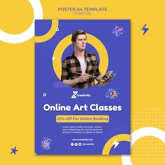 Modèle d'affiche de cours d'art en ligne