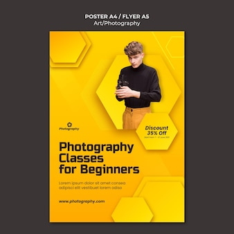 Modèle d'affiche de cours de photographie