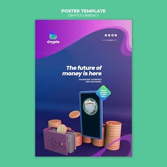 Modèle d'affiche de crypto-monnaie