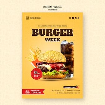 Modèle d'affiche de cuisine américaine