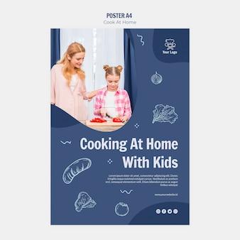 Modèle d'affiche de cuisine à la maison