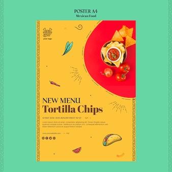 Modèle d'affiche de cuisine mexicaine
