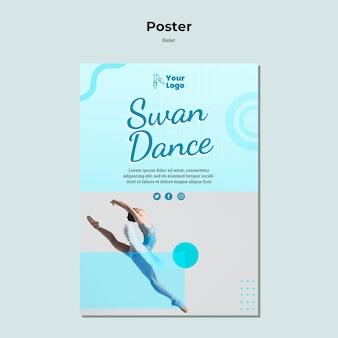 Modèle d'affiche de danseur de ballet avec photo