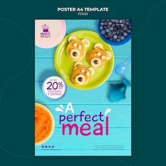 Modèle d'affiche de délicieux aliments pour bébés
