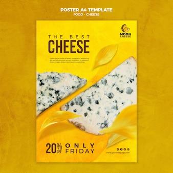 Modèle d'affiche de délicieux fromage avec remise