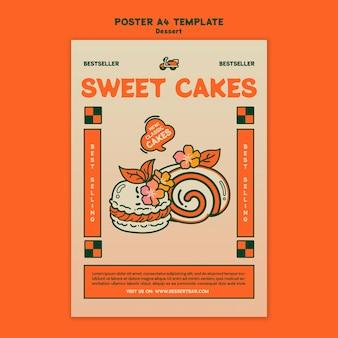Modèle d'affiche de dessert