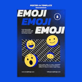 Modèle d'affiche de divertissement emoji